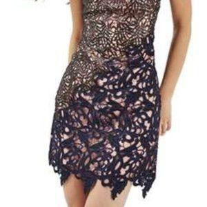 Topshop Lace Overlay Formal Dress